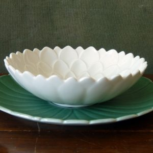 Vintage Branksome China Lotus Flower Bowls and Plates