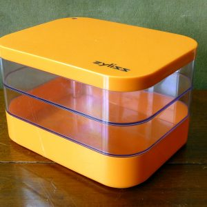 Retro Orange Zyliss Plastic Storage Box