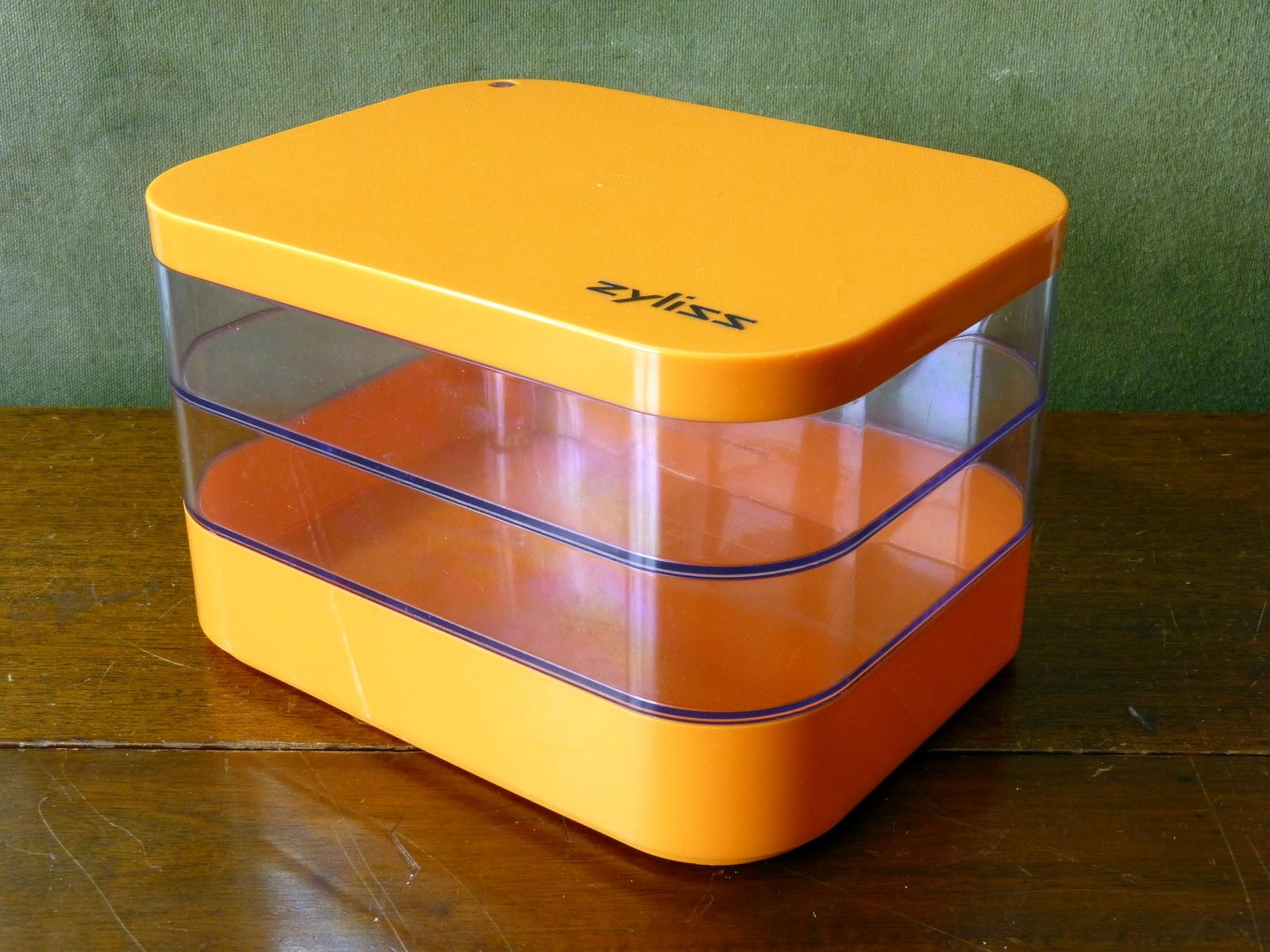 Retro Orange Zyliss Plastic Storage Box