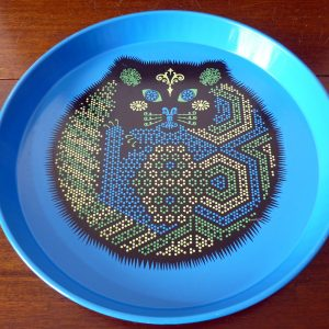 Ducor 1970s Blue Cat Tray by Reginald Corfield