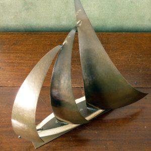 Daalderop Handbeaten Copper and Wood Sailing Boat