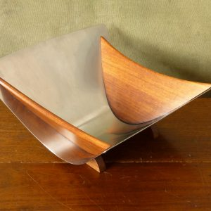 Arthur Salm AS Sweden Teak and Stainless Steel Fruit Bowl