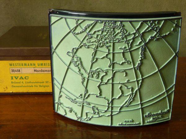 Westermann Umriss Map Stamp North America Nordamerika