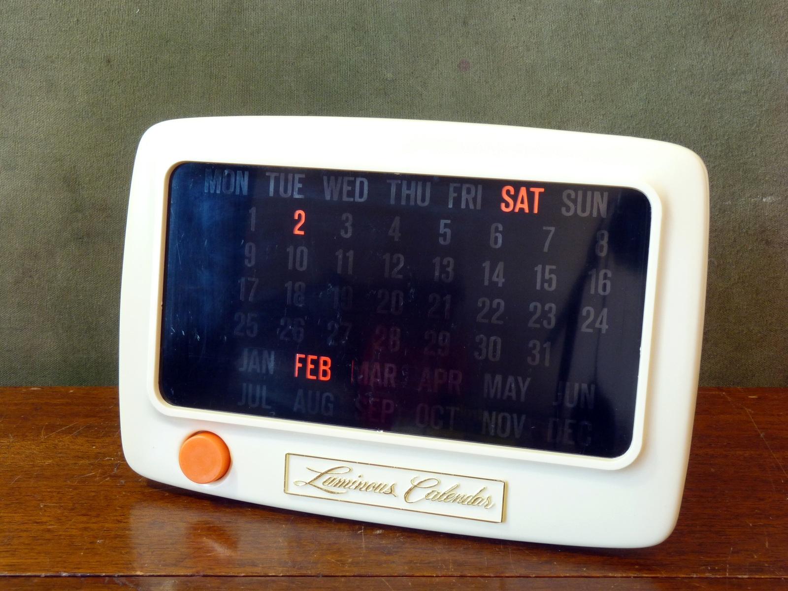 Vintage Luminous Perpetual Calendar
