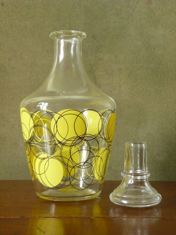 Verrerie Cristallerie D'Arques Funky Liqueur Glasses and Decanter Set