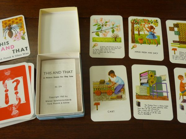 Vintage Piatnik This And That Matching Rhymes Card Game