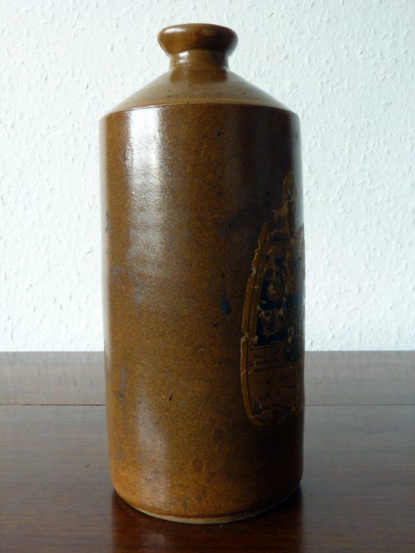 Large Vintage Stoneware Swan Ink Bottle