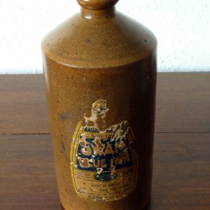 Large Vintage Stoneware Swan Ink Bottle