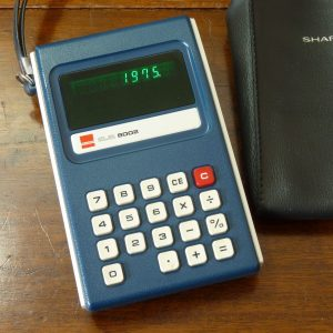 Vintage Sharp ELSI 8002 EL-8002 Green LED Calculator