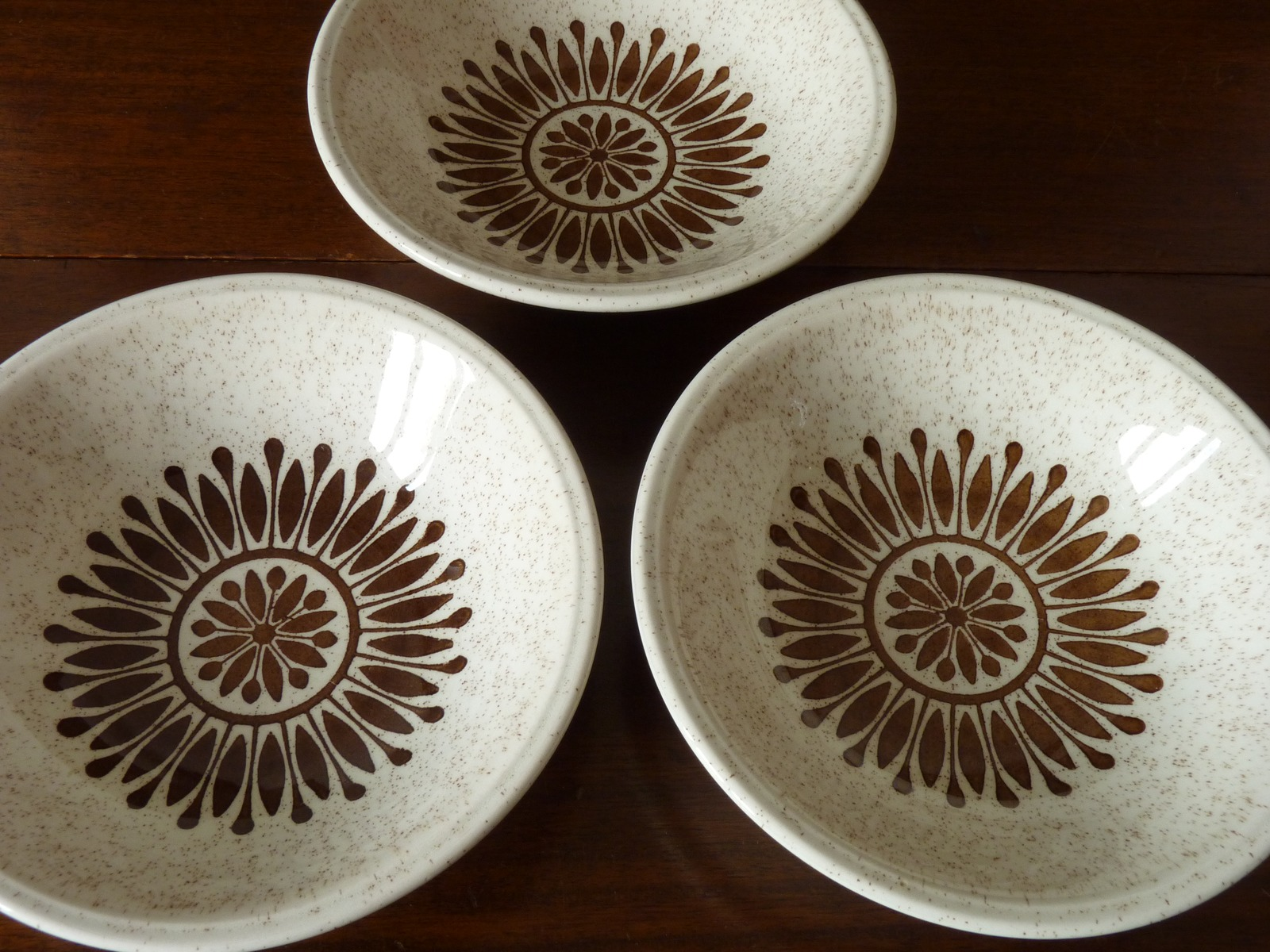 Biltons Ironstone Staffordshire Brown Floral Geometric Cereal Bowl