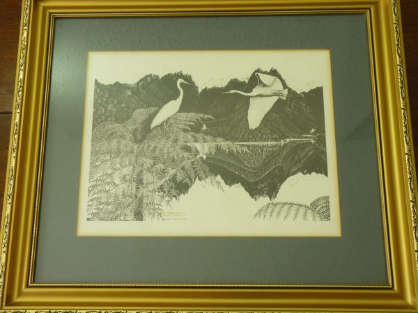 Rei Hamon Signed Return to Still Waters Print