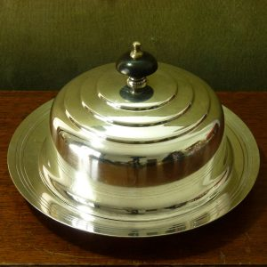 Mappin & Webb Art Deco Lidded Muffin Dish by Keith Murray