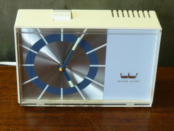 Vintage Westclox Electric Alarm Clock with buzzer and light