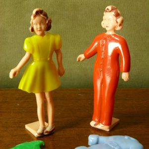 Selcol 1940s Plastic Dolly Daydream Dress Up Dolls with Outfits