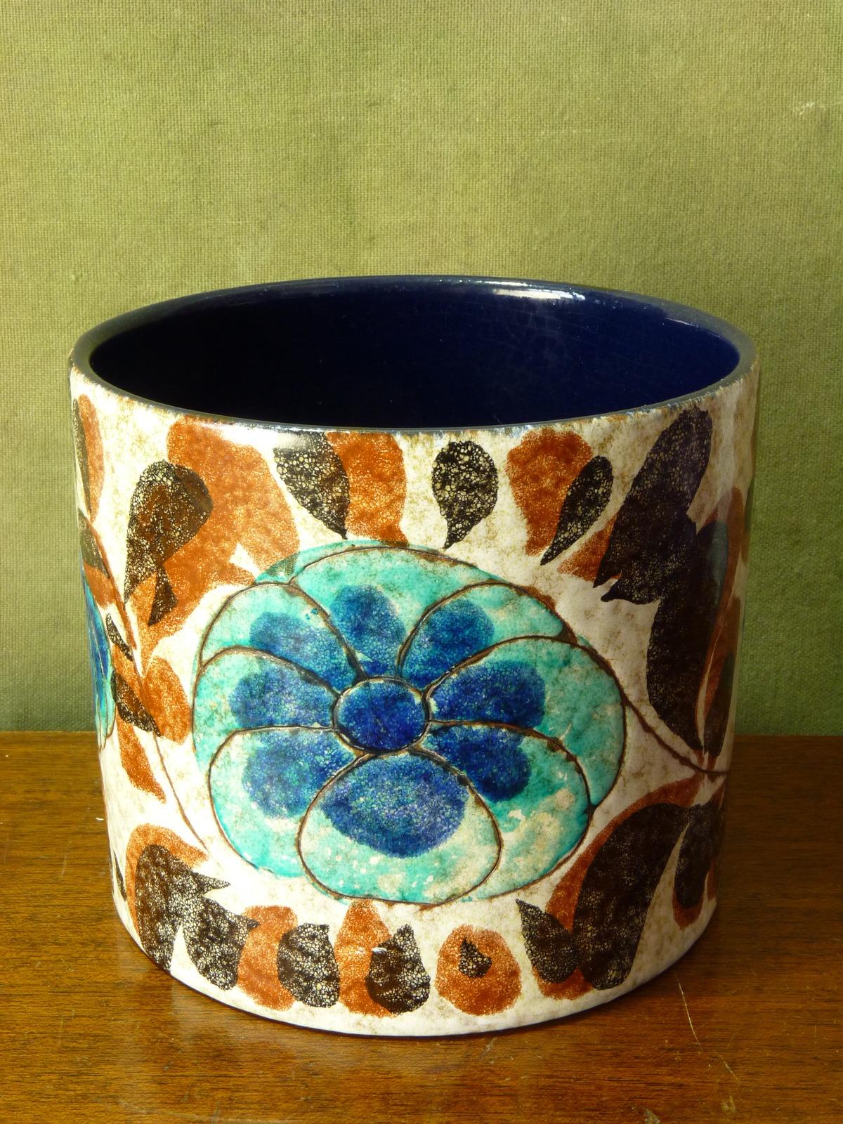 Marei Keramik West German Hand Painted Planter