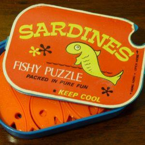 Novelty Sardines Fish Puzzle Made in Hong Kong 1970s