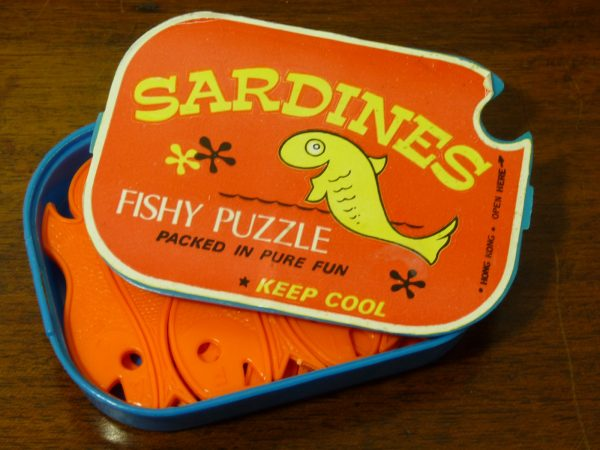 Novelty Sardines Fish Puzzle Made in Hong Kong 1970s