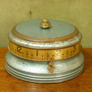 "U.S. Made 1930s Lux ""Mystery Clock"" aka ""Tape Measure Clock"""