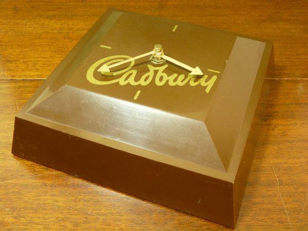 Cadbury Promotional Chocolate Block Clock Chunk 1980s