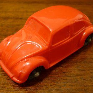 Vintage Galanite Red VW Beetle Car Toy Made In Sweden