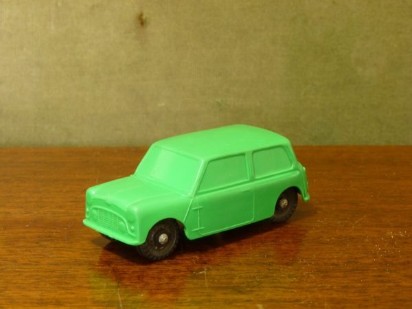 Vintage Galanite Green Austin Mini Car Toy Made In Sweden