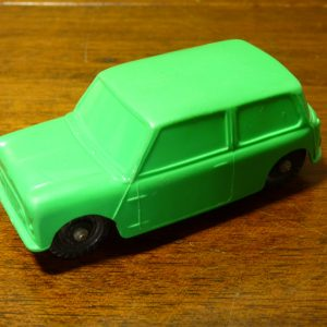 Vintage Galanite Green Austin Mini Car Toy Made In Sweden