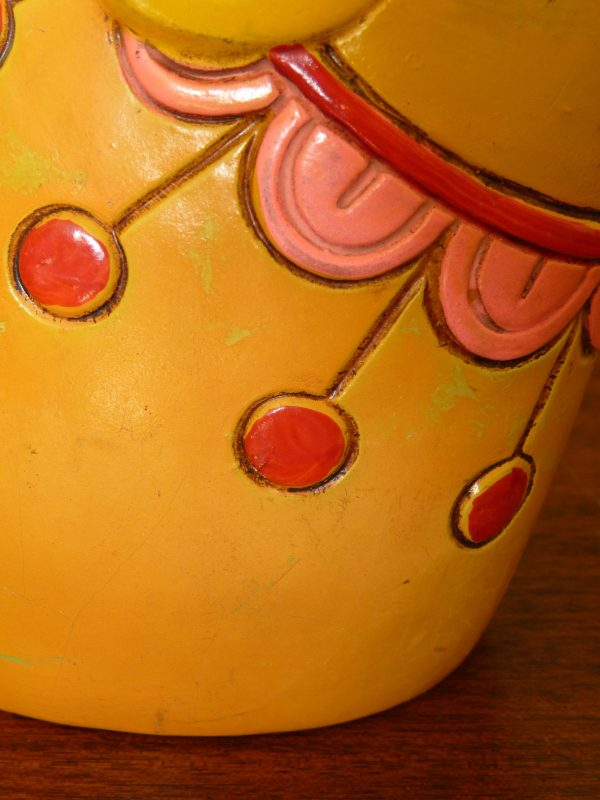 1969 Yellow Pride Creations Mouse Money Box Bank