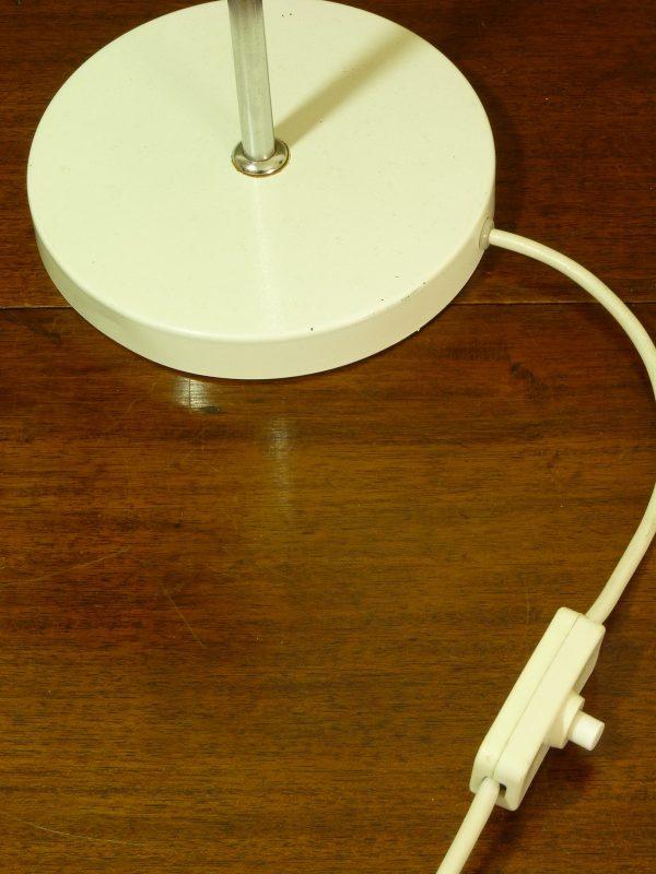 1970s Large White Adjustable Desk Lamp by AKA Veb East German
