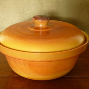 French Arcopal Volcan Lidded Opaline Glass Casserole / Tureen / Serving Dish
