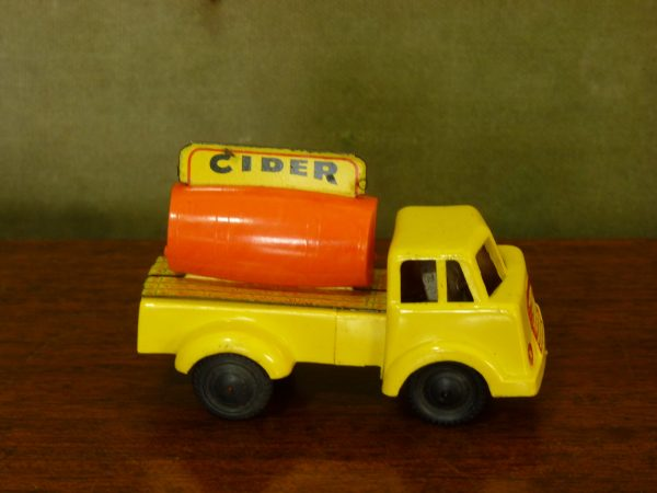 Vintage Wells Brimtoy Plastic and Tinplate Cider Lorry Friction Toy