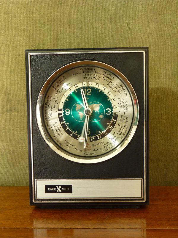 Vintage Howard Miller World Time Mantel / Shelf Clock