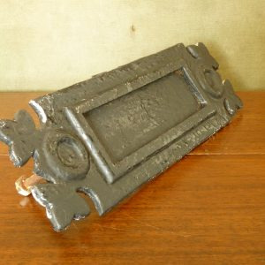 Original Cast Metal Sprung Small Decorative Letterbox