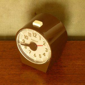 Vintage Hanson Chocolate Brown Plastic Desk Clock