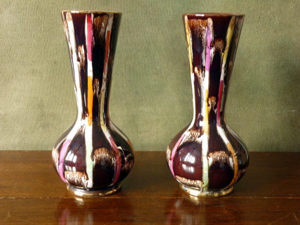 Pair of Vintage German Jasba Vases Pattern 108/22