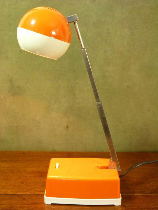 Vintage Eichhoff-Werke E3370 Orange and White Desk Lamp