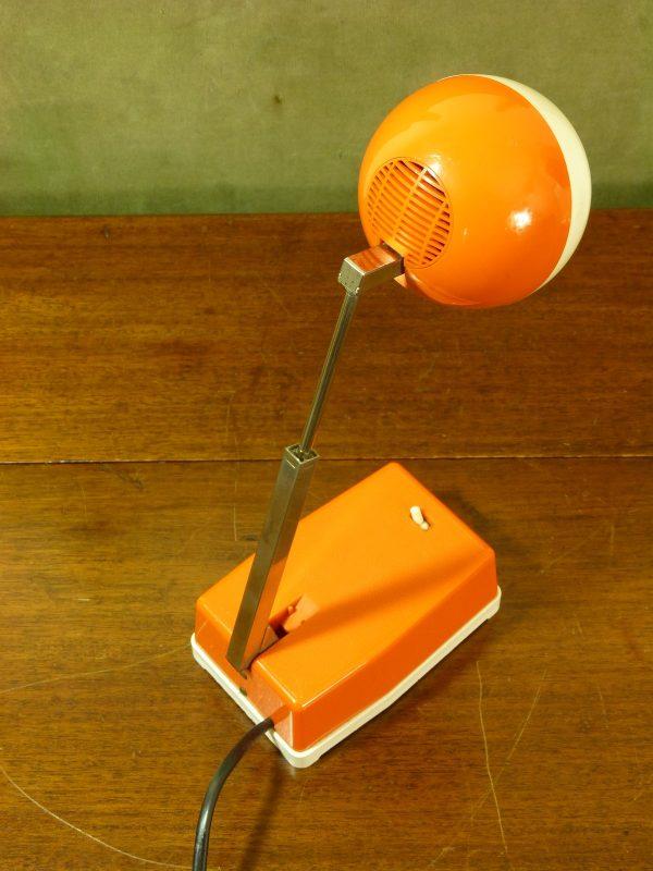 Vintage Eichoff-Werke E3370 Orange and White Desk Lamp