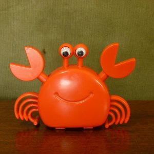 1970s wind-up clockwork moving crab by ST Toys Hong Kong