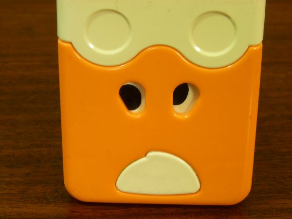 1980s Tomy Chunky Changers Orange and White Cow Shape
