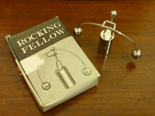 Balancing Perpetual Kinetic Rocking Fellow 1970s Chromed Figure