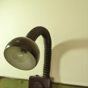 Brutalist Gooseneck Lamp in Dark Brown by Gebruder Cosack