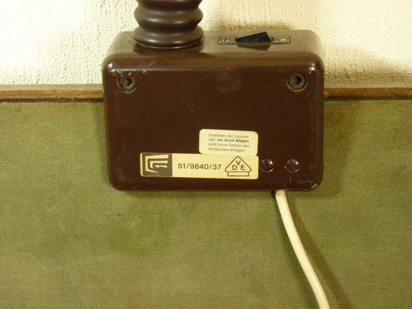 Brutalist Gooseneck Lamp in Dark Brown by Gebruder Cosack