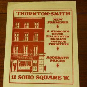 Original Advert for Thornton-Smith Antiques Furniture Soho Square London
