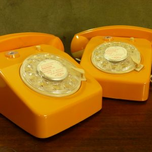 Ingap Children's Orange Intercom Toy Telephones Made In Italy