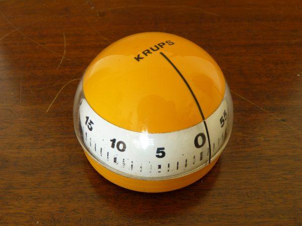 Vintage Orange Krups One Hour Kitchen Timer
