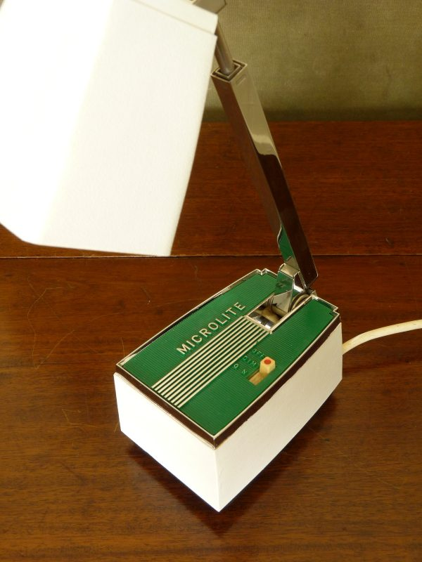 Vintage Green Microlite Telescopic Desk Light
