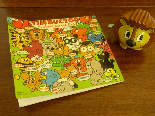 """Vintage Roger Hargreaves' Timbuctoo """"Roar"""" Wind Up Toy and Book (1978)"""