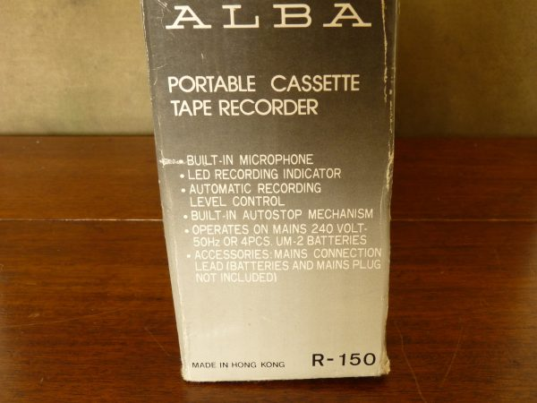 Vintage Alba R-150 Portable Cassette Tape Recorder/Player with Microphone