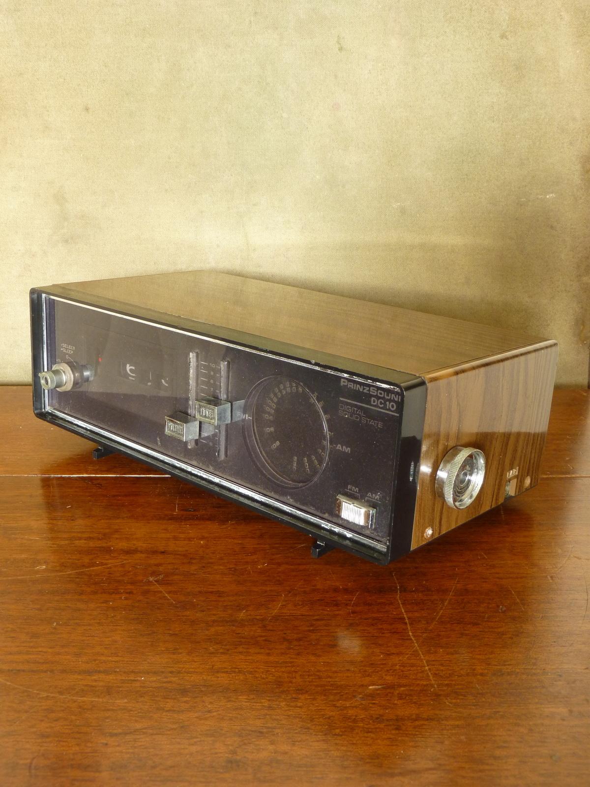 PrinzSound DC10 Digital Solid State AM/FM Radio Roll Roller Clock Alarm