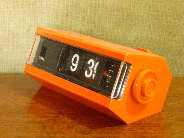 Orange Copal Model 227 24-hour Flip Clock with alarm